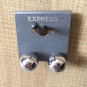 Express Silver Earrings Balls Post Back
